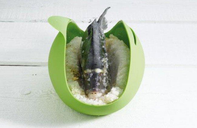 Dorada a la sal en microondas
